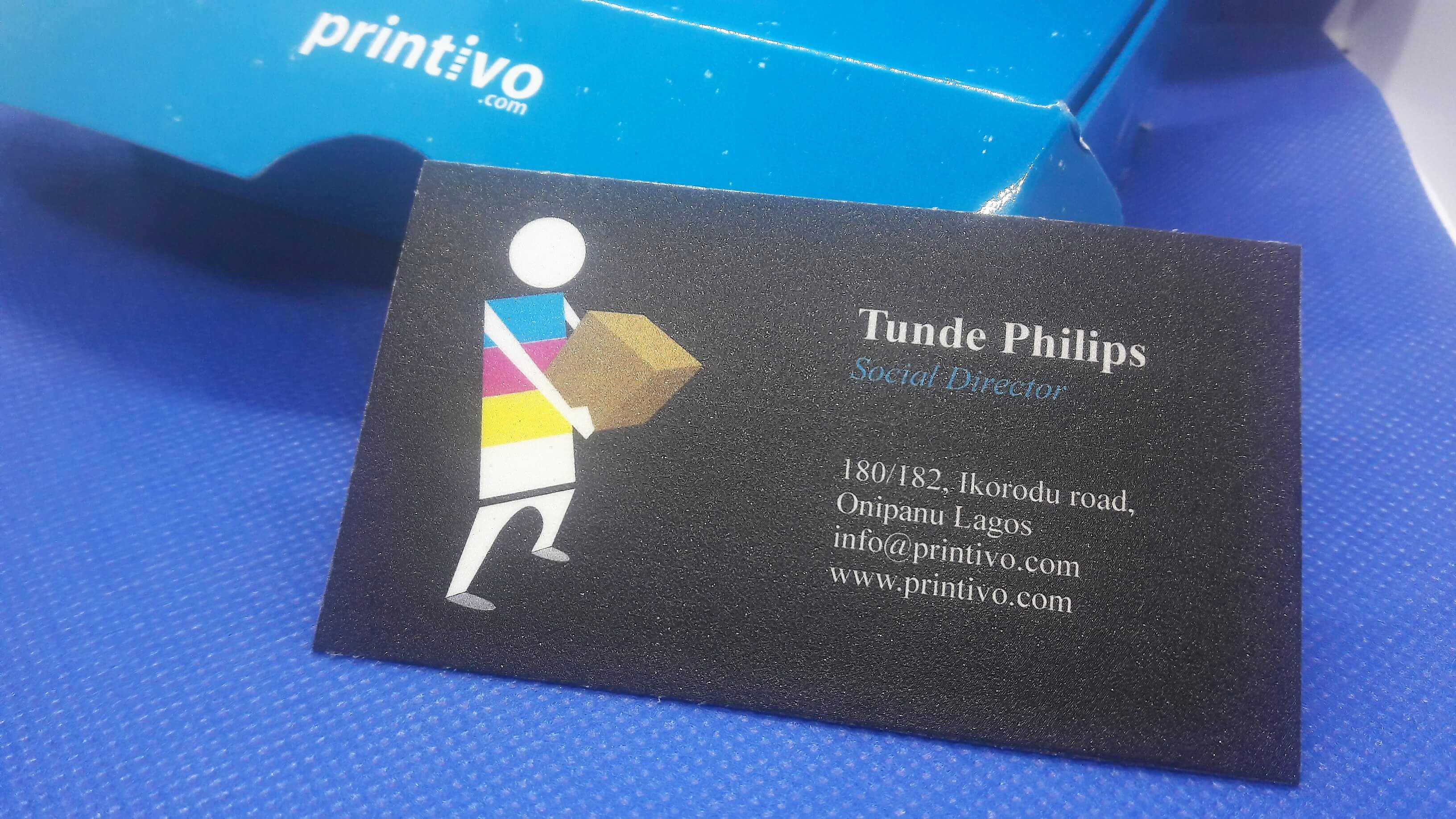 Business card sample