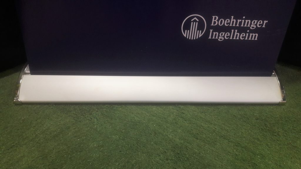 A roll up banner big base