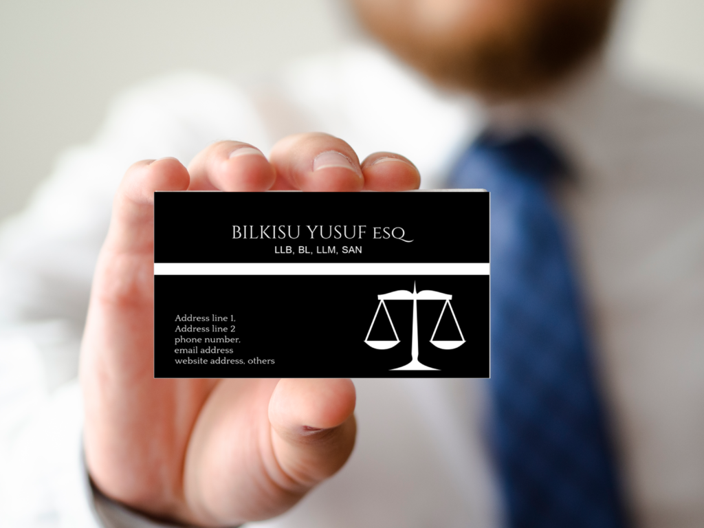 image of a man showing a business card