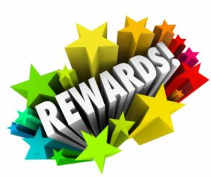 Image of a reward text